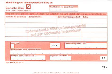 deutsche bank iban orderscheck ratgeber einl 246 sen 220 bertragen indossament