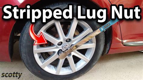 remove stripped lug nut stud   car youtube