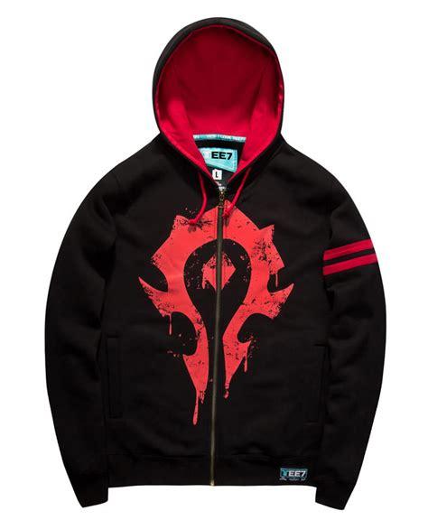 Zipper Hoodie World Warcraft 091j world of warcraft horde logo sweatshirt black zipper