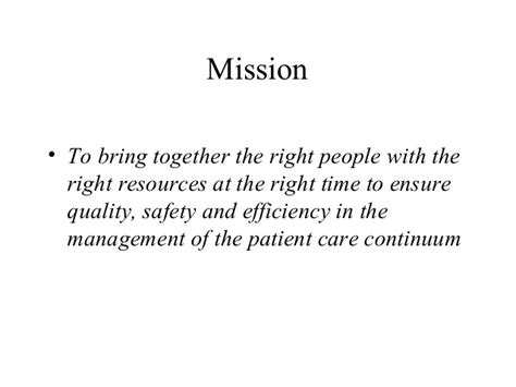 Scope Of Mba In Safety Management by Patient Resource Management O Brien Barrington Mba
