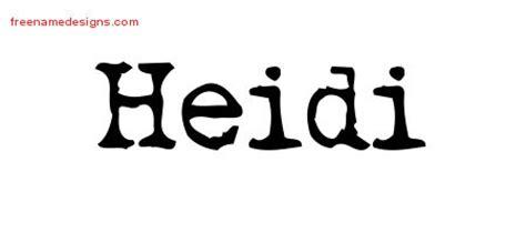 tattoo name heidi heidi archives free name designs