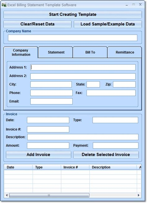 download free excel billing statement template software by