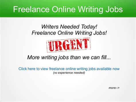Online Jobs - freelance online writing jobs