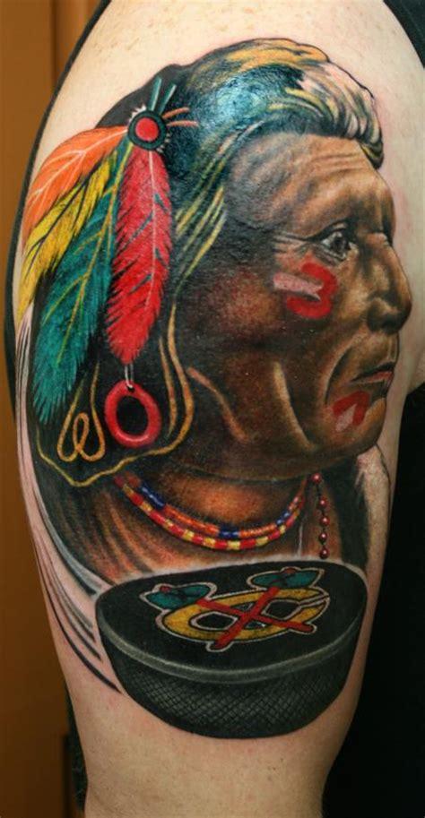 chicago blackhawks tattoo realistic chicago blackhawk by larry brogan tattoos