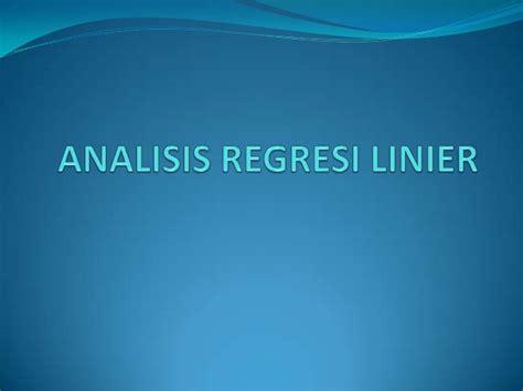 Bakteriologi Konsep Konsep Dasar analisis regresi linier