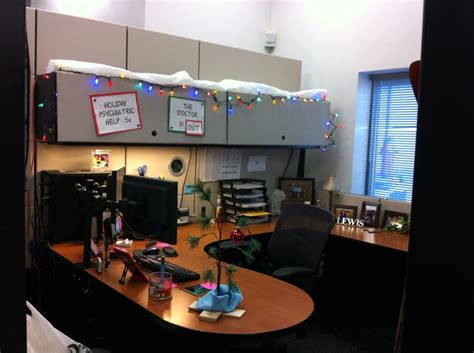 epic holiday office decorating contest brown cubicle brown cubicle and