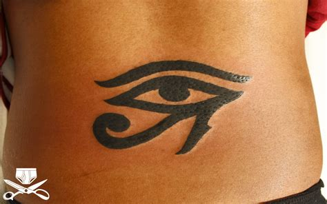 egyptian tribal tattoos tribal eye on back