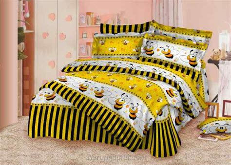 Bed Cover Set Polos Rosewell Uk 200x200cm Harga Reseller Murah Bed Cover Set Lebah Kuning Uk 200 T 25cm Warungsprei