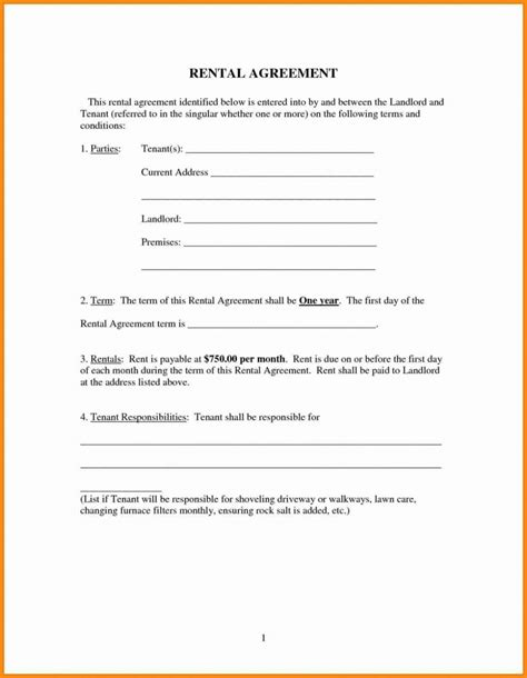 easy rental agreement template ipasphoto