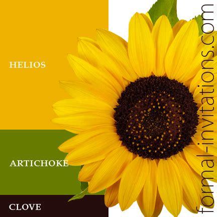 colors of sunflowers sunflower wedding color palette colour combos