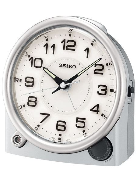 seiko ultimate alarm clock with snooze bar and sweep second qxe011alh