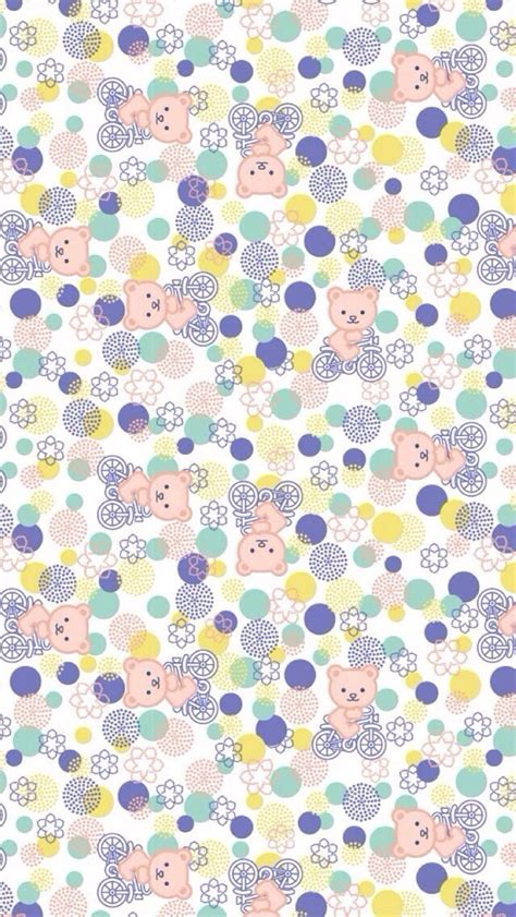 pattern wallpaper iphone 5c clean bear and floral pattern wallpaper free iphone