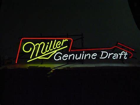 light up bar signs miller genuine draft light up bar sign