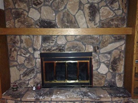 hometalk ideas to update fireplace in basement