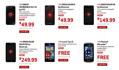 Verizon Customer Phone Number Lookup Verizon Kicks Sale Droid Razr Maxx Hd For 249 Regular Razr Hd At 149