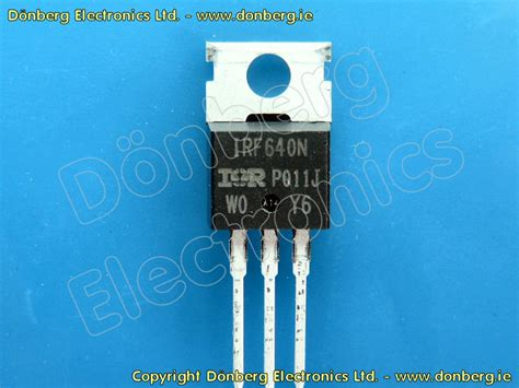 transistor irf 640 semiconductor irf640 irf 640 n mosfet 200v 18a 125w