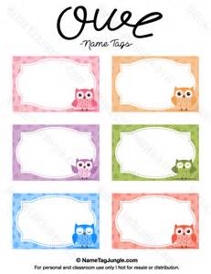 name tag printable template free printable owl name tags the template can also be