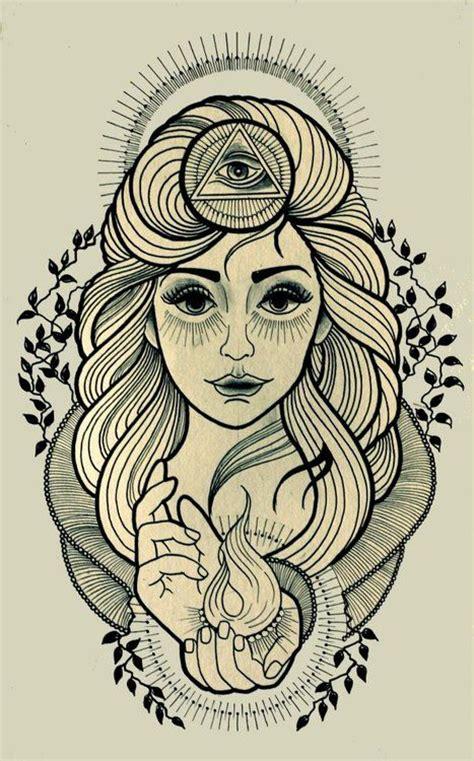 tattoo old school third eye girl with third eye tattoo ideas pinterest third eye