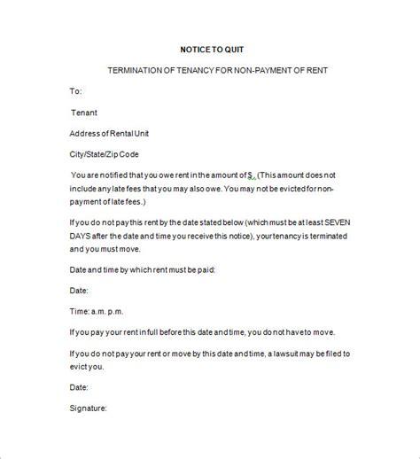 free notice to quit template 19 notice to quit templates pdf doc free premium