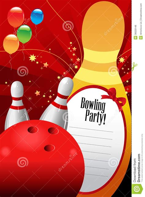 bowling birthday card template free bowling invitation template