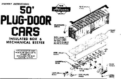 athearn parts diagrams athearn boxcar national model railroad association