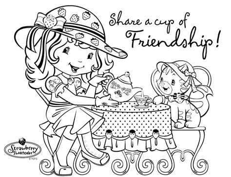 strawberry coloring pages strawberry shortcake birthday