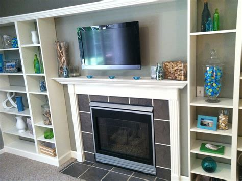 ikea fireplace hack faux built in billy bookcase ikea hack hearthavenhome