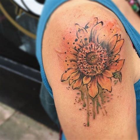 watercolor tattoo singapore 1000 ideas about watercolor sunflower on