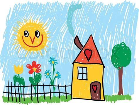 14 cartoon house vector images cartoon house garden vector home with flowers garden and tree stock vector