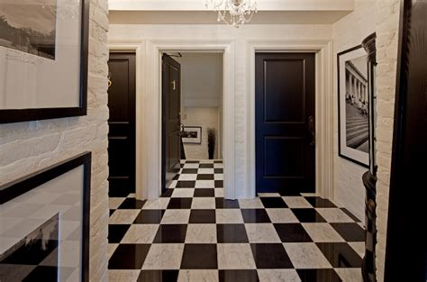black and white marble floor black and white marble floor transitional entrance foyer