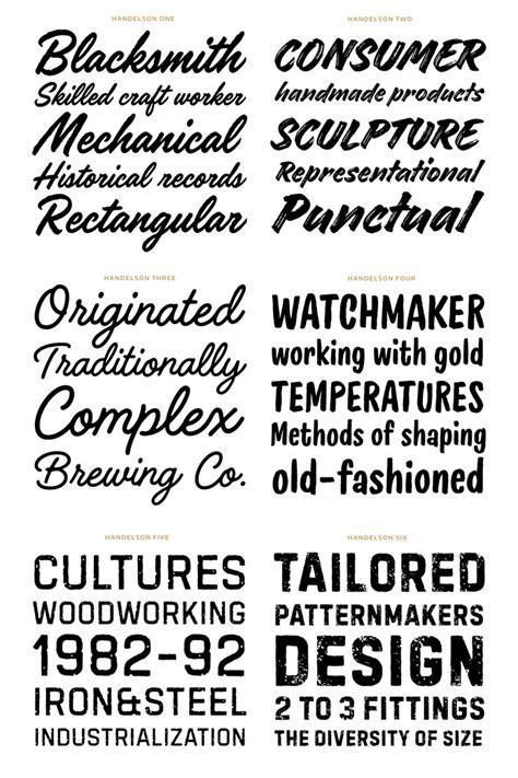 Best Handmade Fonts - handelson handmade typefaces