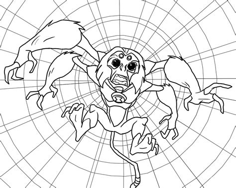 coloring pages spider monkey ben 10 coloring pages spider monkey cartoon pinterest