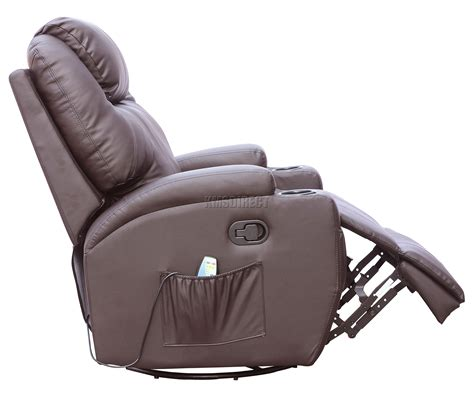 reclining sofa with massage and heat foxhunter bonded leather massage recliner chair cinema