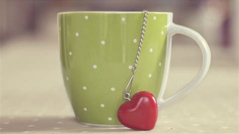 beautiful cup and red heart wallpapers 852x480 68432