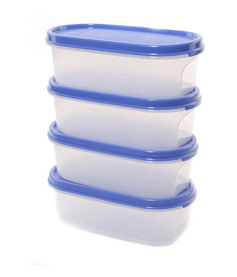 Tupperware Oval tupperware oval plastic container set of 4 buy