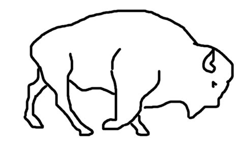 walking bison rough sketch animation version 1 by