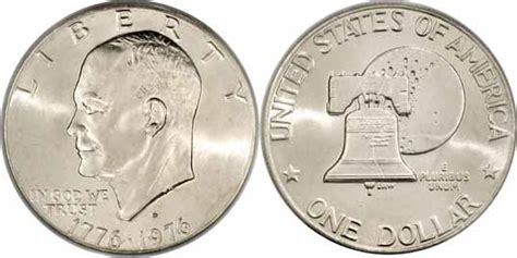 specifications eisenhower silver dollars 1776 1976 d type ii eisenhower dollar values facts