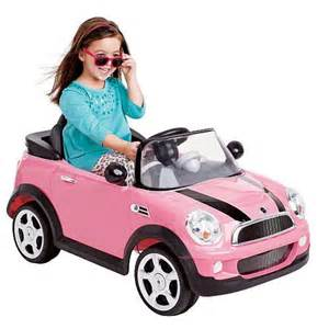 avigo 6 volt mini cooper car ride on pink