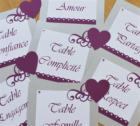 Nom De Table Mariage Original 4457 by Cartes Noms De Table Argent Et Prune Atelier Graines D Id 233 Es