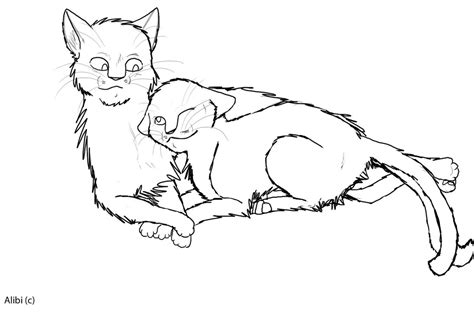 warrior cats tom and she cat warrior coloring pages