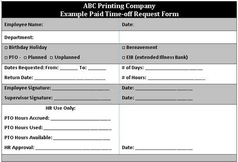 Free Employee Vacation Request Form The Thriving Small Business Employee Pto Tracker Template