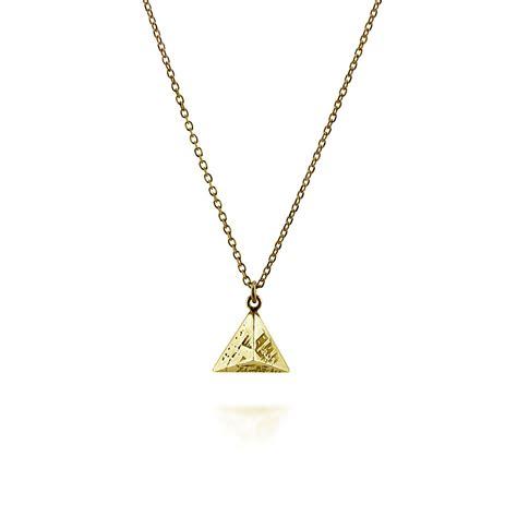 mini souvenir pyramid pendant gold plated silver gunn
