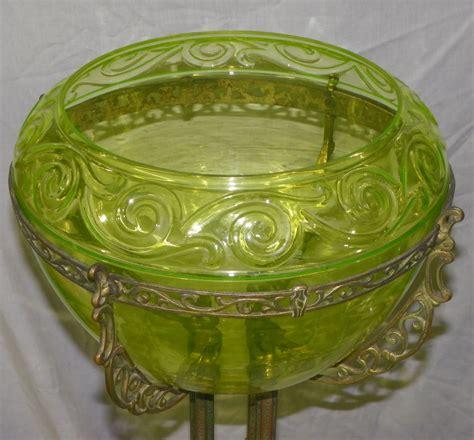 bargain johns antiques blog archive antique victorian vaseline glass fish bowl  ornate