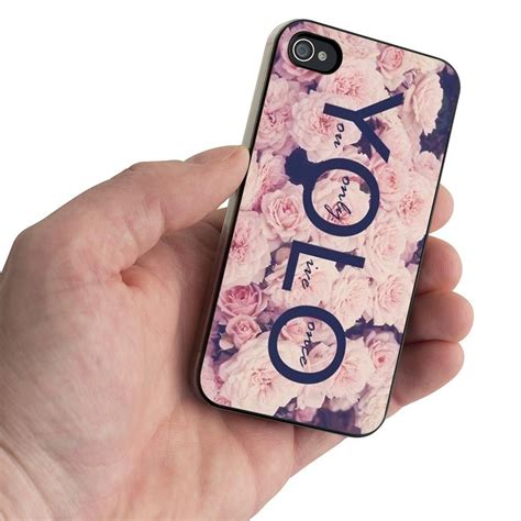 Yolo In White Phone yolo flowerful swx design for iphone 5 iphone 4