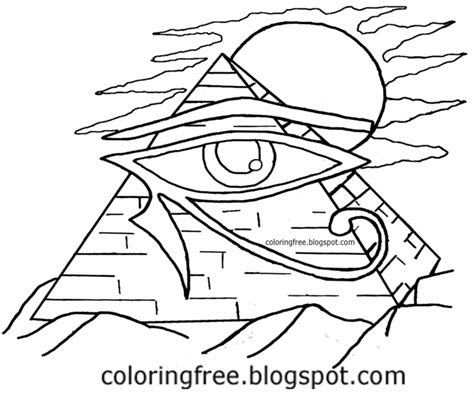 eye of horus coloring page free coloring pages printable pictures to color kids
