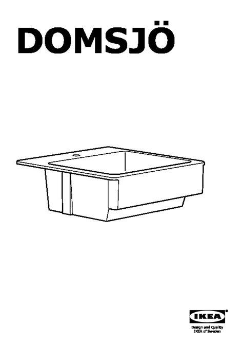 domsjo bowl sink domsj 214 sink bowl white ikea canada ikeapedia