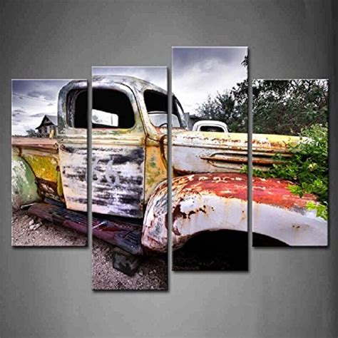 4 panel wall classic vintage painting canvas car pictures print home decor 737029097949 ebay