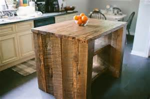 custom reclaimed kitchen island by designs