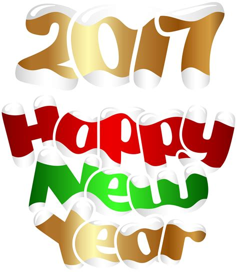 Free Happy New Year Clipart 2017