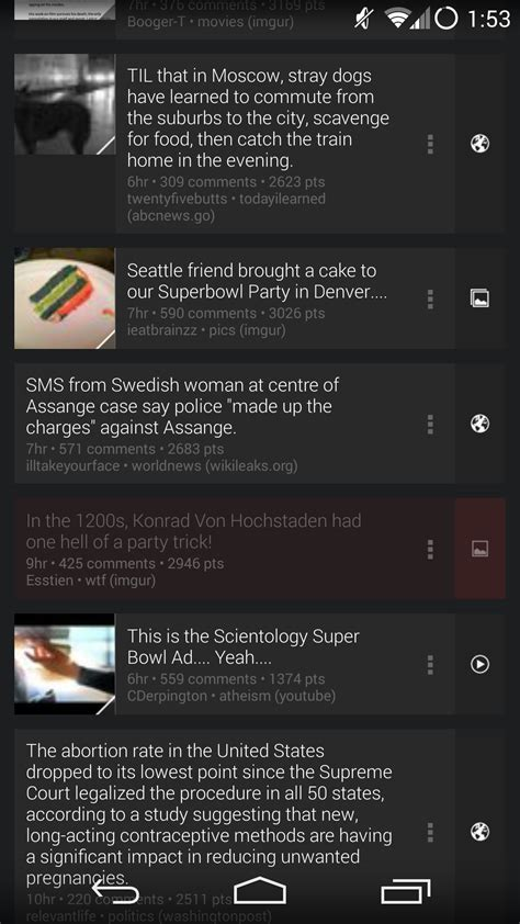 reddit android dev reddit sync beta updated to v8 0 54 with transparent navigation and status bars on kitkat